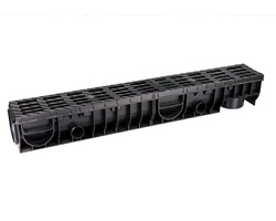 Лоток Ecoteck MEDIUM 100.125 h145 с решеткой пластиковой, кл.В125