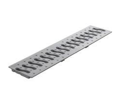 Решетка 100 пластиковая Волна (металлик)